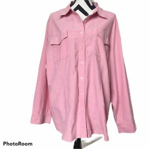 Tommy Hilfiger Pink Oxford Button Front Shirt